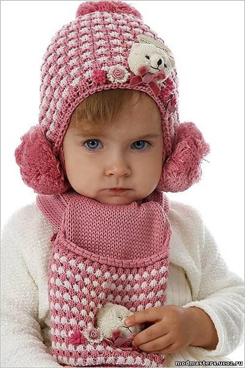 Зимние шапки с ушками для