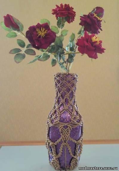 Мастерицы могут вазу, бутылку,